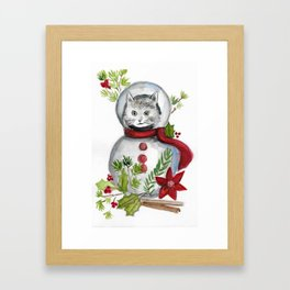 Christmas Cat Framed Art Print