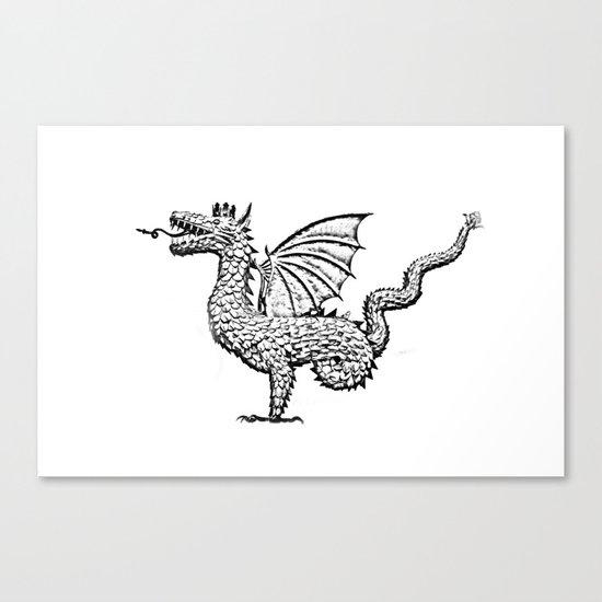 Dragon (pencil) Canvas Print