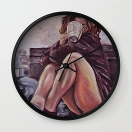 Lazy Sunday Wall Clock