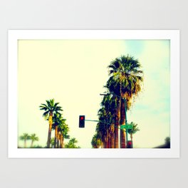 Palm Lane Art Print
