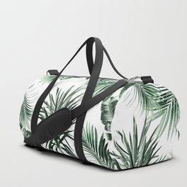 Tropical Summer Vibes Leaves Mix #2 #tropical #decor #art #society6 Duffle Bag