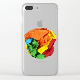 Crumpled paper ball Clear iPhone Case
