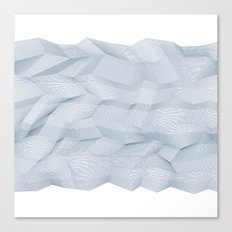 Facets - White and dark blue Canvas Print