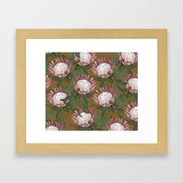 Dragon Flower Gold Framed Art Print