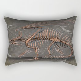 Western Dragon Skeleton Anatomy Rectangular Pillow