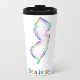 Rainbow New Jersey map Travel Mug