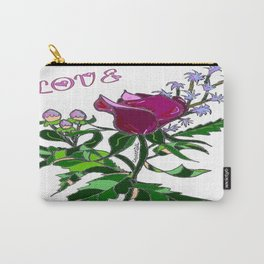 Love Flower Carry-All Pouch