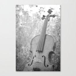 Violin Nature Canvas Print