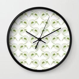 Green kiwi pattern Wall Clock