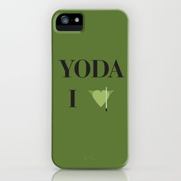 I heart Yoda iPhone Case