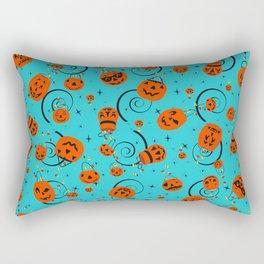 Halloween Magic- Turquoise Rectangular Pillow