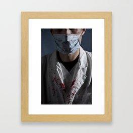 evil doctor Framed Art Print