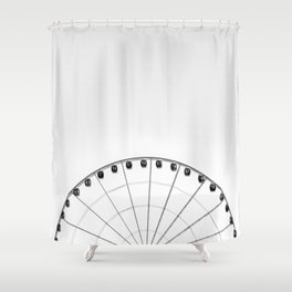 1/2 Ferris Wheel Shower Curtain
