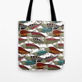 Alaskan salmon white Tote Bag