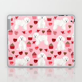 Bichon Frise valentines day dog gifts pet art portraits of your furry friend dog breeds Laptop & iPad Skin