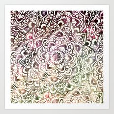 STARRY DAY MANDALA Art Print
