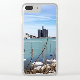 Over the Border Clear iPhone Case