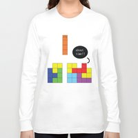 tetris Long Sleeve T-shirts featuring Tetris by Digital Sketch
