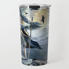 Valkyrie and Crows Travel Mug