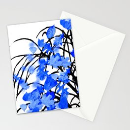 Falling Leaves Blue Stationery Cards