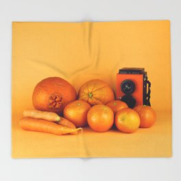 Orange carrots - still life Throw Blanket