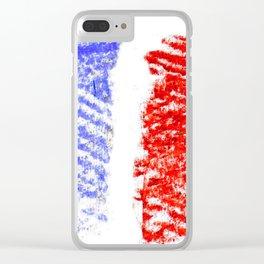 Flag of France 13- France, Français,française, French,romantic,love,gastronomy Clear iPhone Case