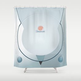Sega Dreamcast console artwork Shower Curtain