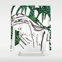 human Shower Curtains featuring Human by Kats Illustration