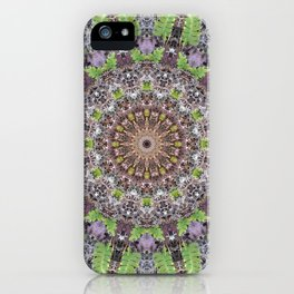 Natural elements in forest mandala iPhone Case