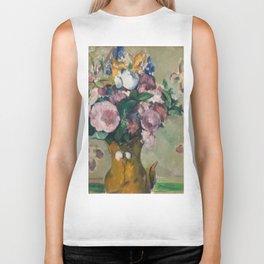 """Paul Cezanne """"Vase of Flowers"""" Biker Tank"""