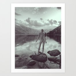 One with nature's beauty Art Print