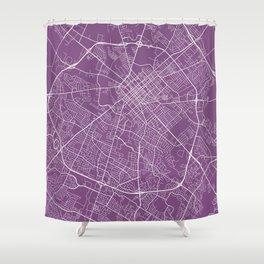 Lexington Map, USA - Purple Shower Curtain