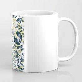 Blue Flowers Pattern Coffee Mug