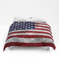 USA Grunge Flag Comforters
