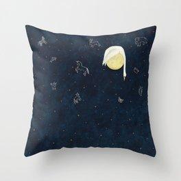 Sleeping on the Moon Throw Pillow
