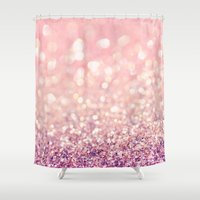 blush Shower Curtains featuring Blush by Lisa Argyropoulos