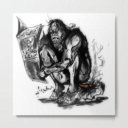 SaSQUATch Metal Print