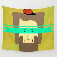 superhero Wall Tapestries featuring current superhero by AmDuf