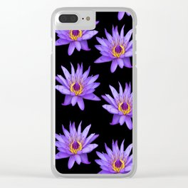 Lotus On Black Clear iPhone Case