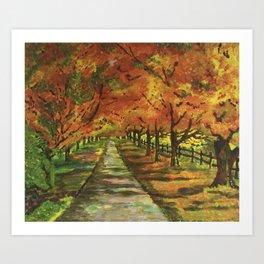 An Autumn stroll Art Print