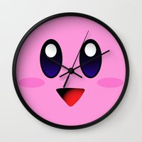 kirby Wall Clocks featuring Kirby by UMe Images