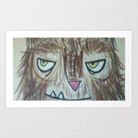 Somebody's Watching You Art Print