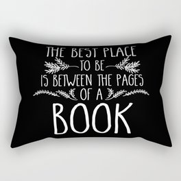Between the Pages (inverted) Rectangular Pillow