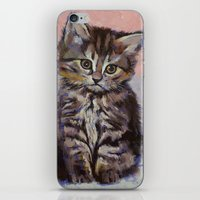 kitten iPhone & iPod Skins featuring Kitten by Michael Creese