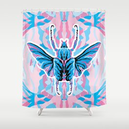 Goliathus Beetle _ psychedelic bug 1.1 Shower Curtain