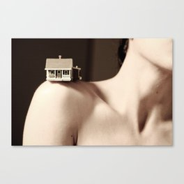 House on a Hill, I Canvas Print