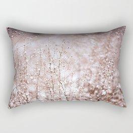 Snowy Plants Rectangular Pillow