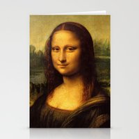 mona lisa Stationery Cards featuring Mona Lisa by Color and Patterns