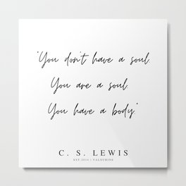 61    | 200320 |  C.S Lewis Quotes Metal Print