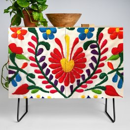 Red Mexican Flower Credenza